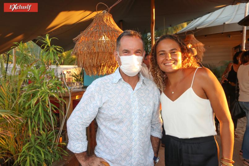 Yvan Mainix, directeur général de Fibres Réunion, et Alice Lemoigne