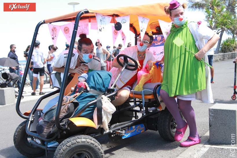 Isabelle Delleaux alias Pernette, et Stephane Thomas alias Ritatoo, clowns à l'hôpital de l'association Eclats de l'île/ Des clowns à l'hôpital/ Réunion.