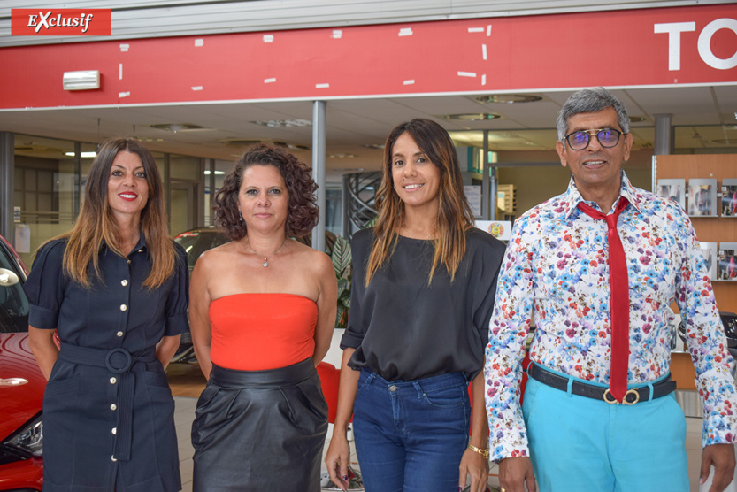 La woman team, Claudia Chanca, conseillère commerciale, Nathalie Bénard et Sandrine Perrot, assistantes commerciales, avec Rahman Badat, chef de ventes, qui va faire des envieux...
