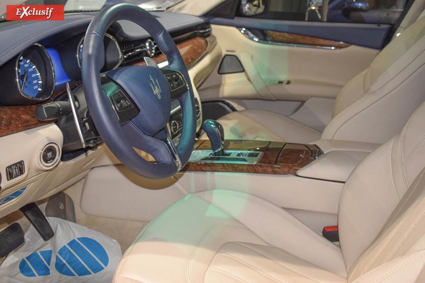 L'intérieur de la Maserati