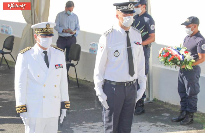 Jacques Billant, Préfet de La Réunion, et Laurent Fraysse, directeur adjoint de la Direction départementale de sécurité publique