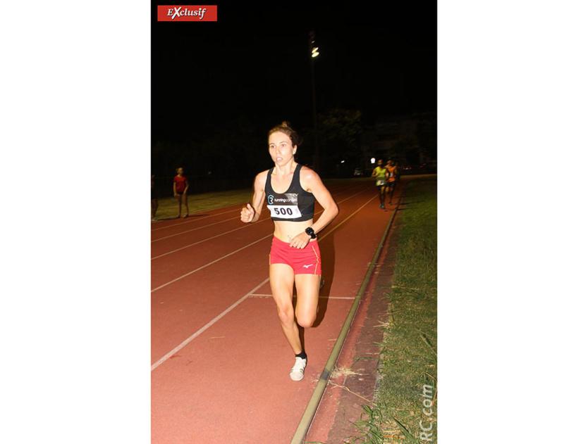 Charlotte Halle sans rivale sur le 3000 mètres qu'elle a bouclé en 10'48'' devant Coline Babrabur et Frédérique Weigel