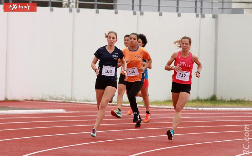 Julie Avril (dossard 117) prend les commandes du 800 m
