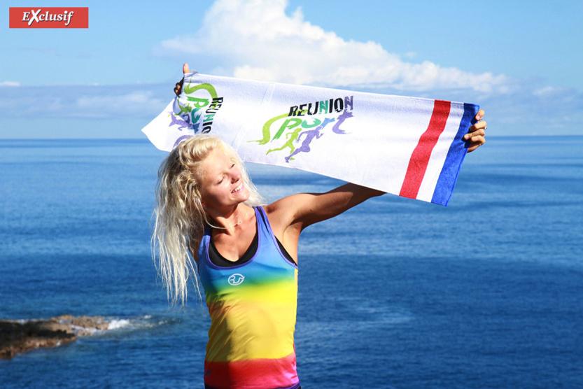 La Réunion en l'air... Une île qu'elle adore et où elle a commencé à faire de l'athlétisme