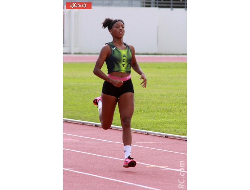 Alyssa Hamilcaro médaillée d'argent du 100m