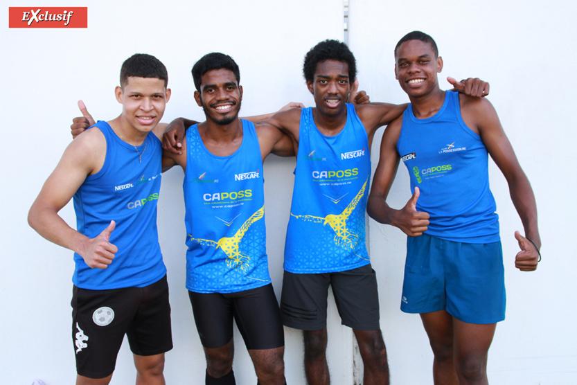La victoire pour les garçons du CAPOSS sur le 4x100m