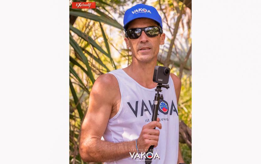 Alexis Hoareau de la Team Vakoa et de Band Yabs et qui est l'initiative de ce Challenge a parcouru les 32 km du Cilaos Run en 5h 46''