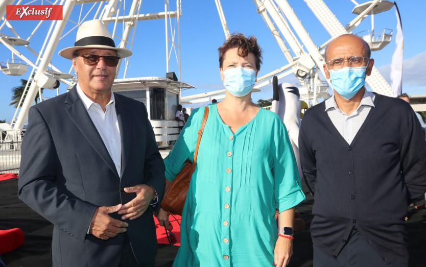 Maurice et Nadine Gironcel, et Philippe Naillet