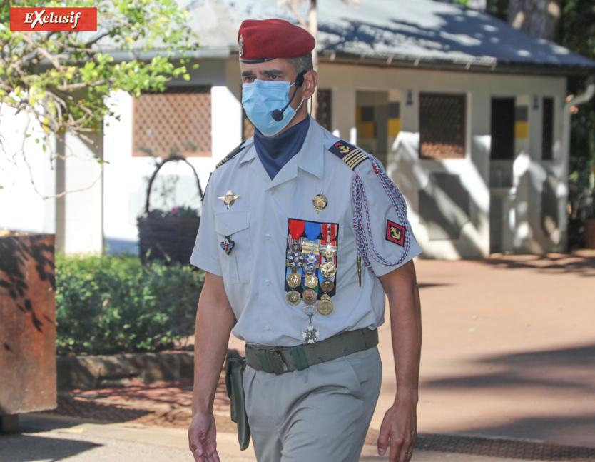 La cérémonie était sous le commandement du colonel Geoffroy Rondet, chef de corps du 2ème RPIMa