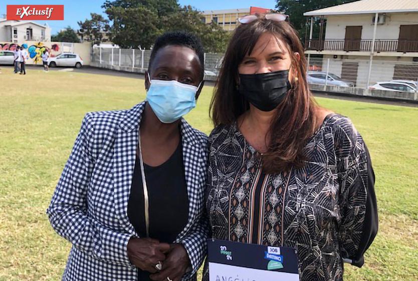 Patricia Profil, conseillère régionale, et Angélique Goodall, directrice de Pôle Emploi à La Réunion