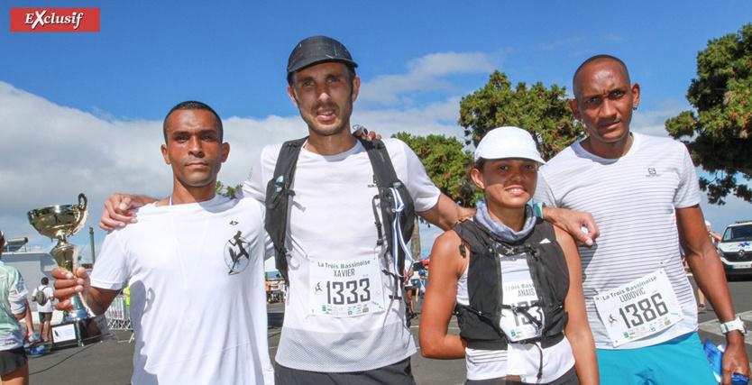 Ludovic, Xavier, Anaïs et Ludovic: le plaisir du trail retrouvé