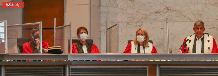 C'est dans la Salle des Assises de la cour d'Appel qu'a leu lieu la cérémonie