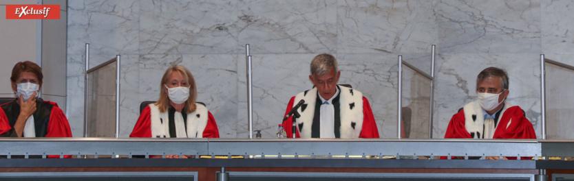 Le discours du premier président Alain Chateauneuf