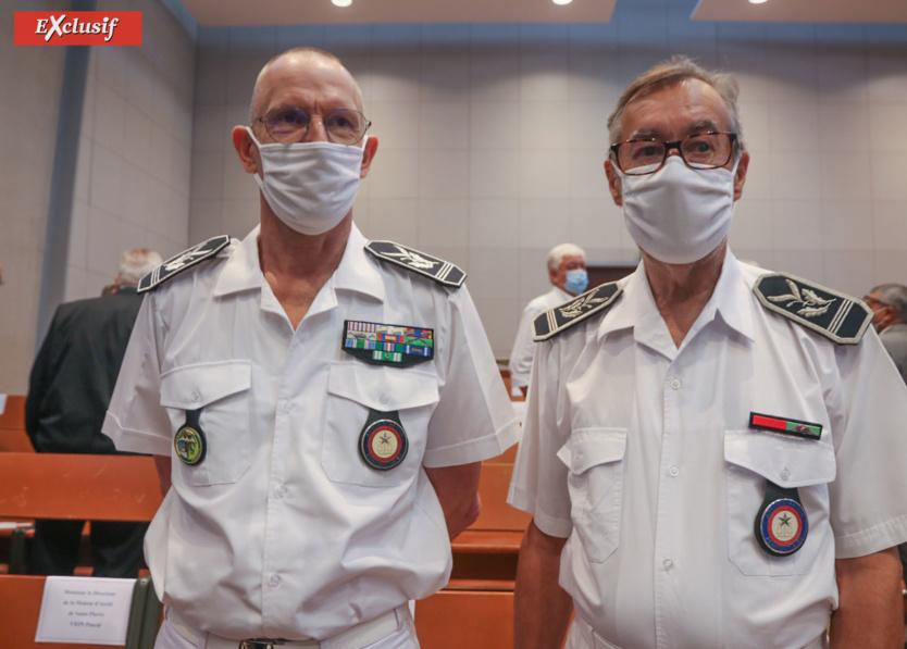 Pascal Bruneau, directeur du Centre Pénitentiaire de Saint-Denis, et Patrice Puaud, directeur du Centre de Détention du Port