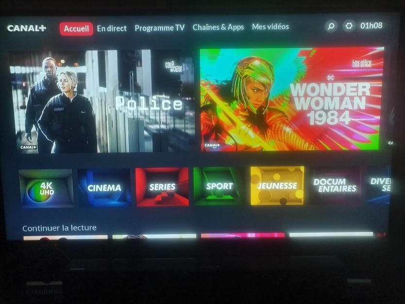 Le nouveau design du décodeur Canal+ 4K-UHD