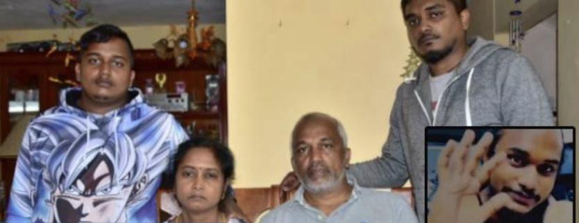 Les parents de Vinessen et ses frères sont désespérés... (photo L'express Maurice)