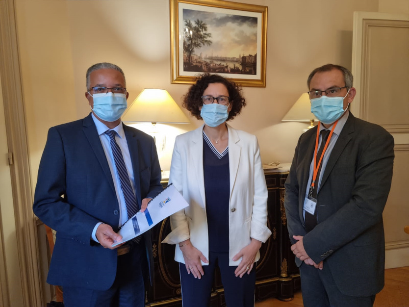 Le président Melchior (à gauche) a été reçu par la Ministre Emmanuelle Wargon