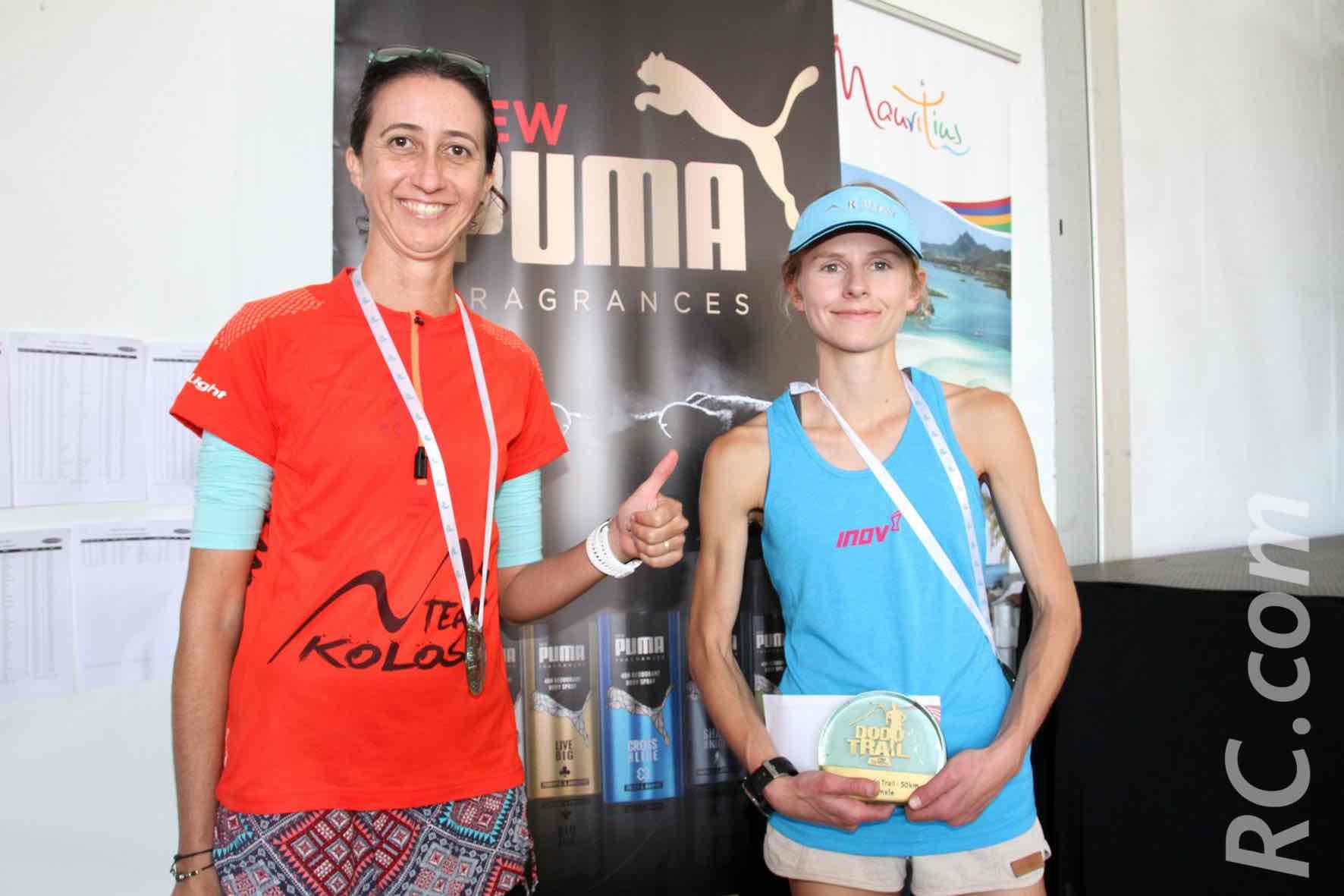Laurence Goilot et la Sud-Africaine Nicolette Griffoen, vainqueur de l'Xtrem de 50 km