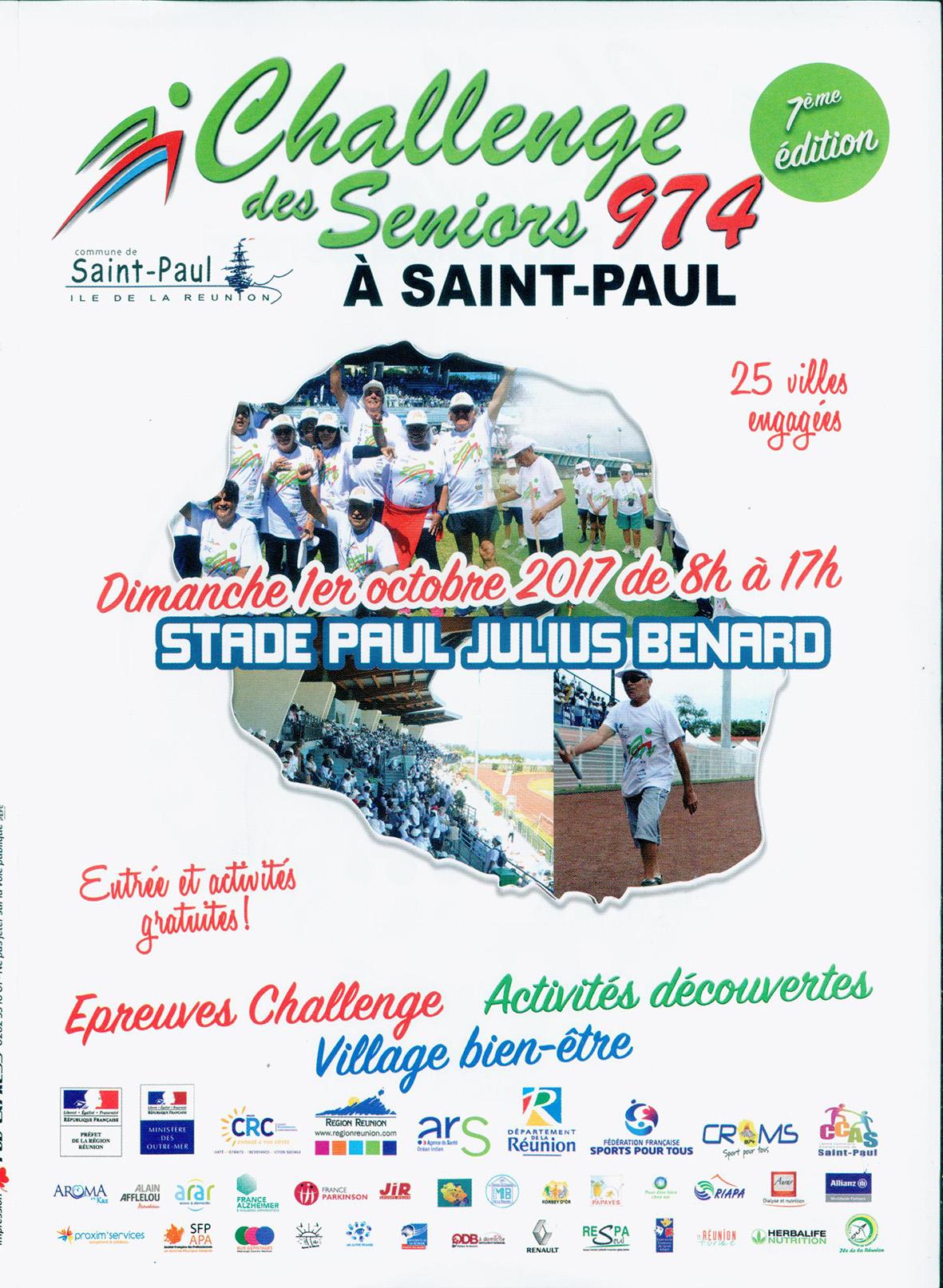 Challenge des Seniors : 25 villes à Saint-Paul ce dimanche