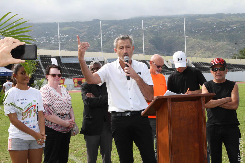 Président Régional  de  « Sports pour Tous », Fred Cliquet a adressé une mention spéciale à l'équipe organisatrice du Challenge