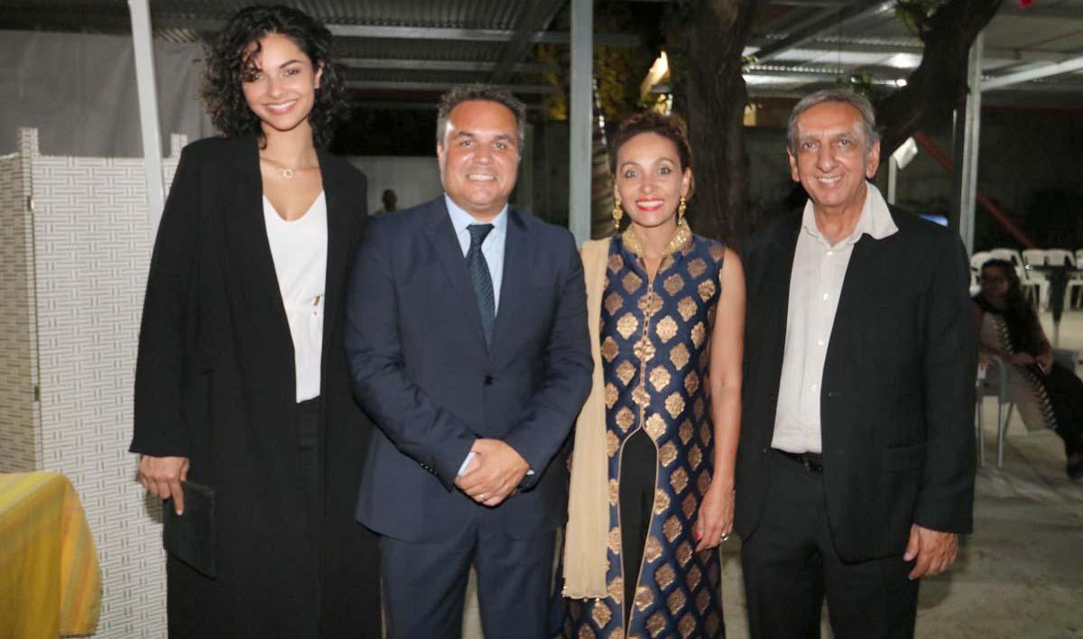 Azuima Issa, Didier et Corine Robert, et Aziz Patel