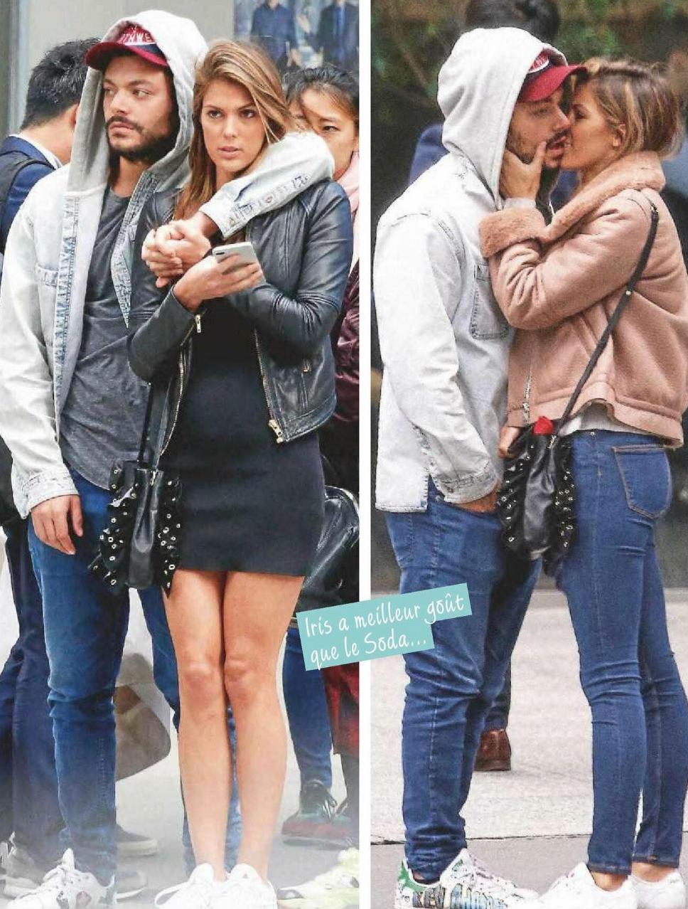 La photo ne laisse aucun doute sur la relation entre Iris et Kev: l'amour!