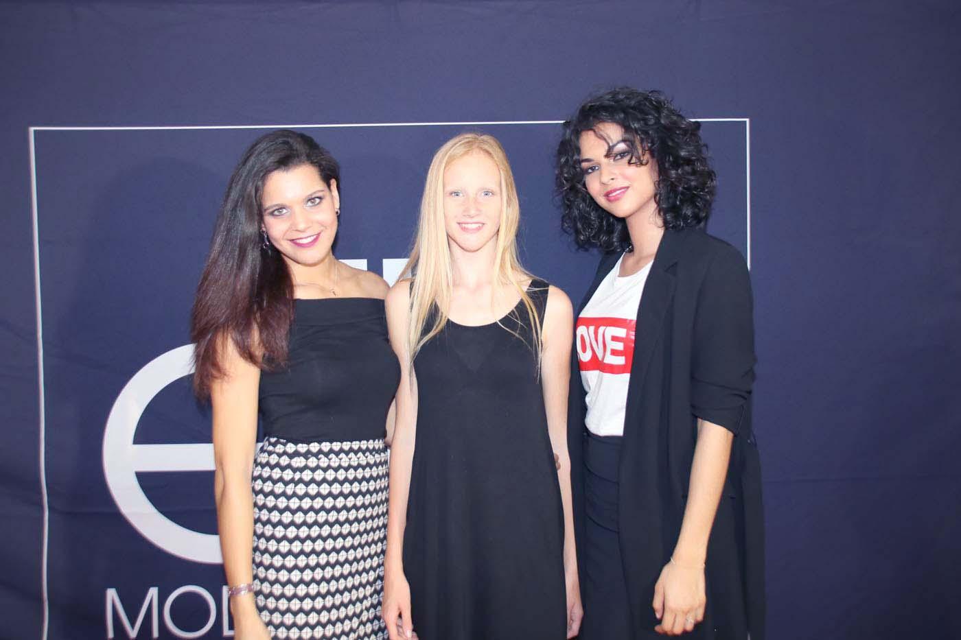 Vanille, Catherine, et Azuima, qui avait participé à Elite Model Look Réunion il y a quelques années