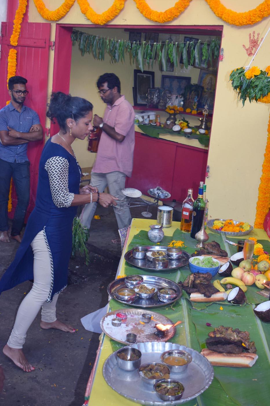 Repas fraternel chez Kichenin Sadeyen à Villèle