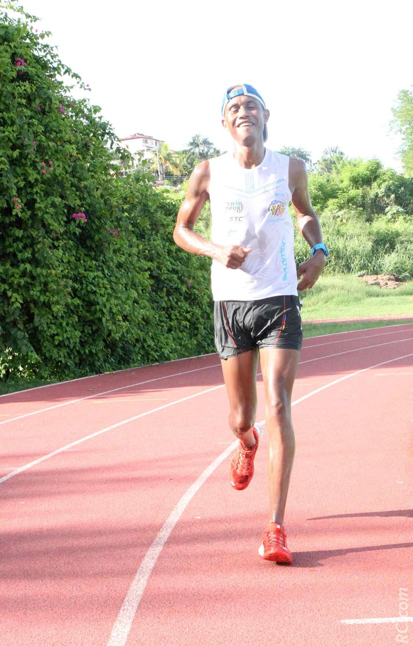 Jean-Patrice Payet, victorieux sur les 15km du Trail de la Savane