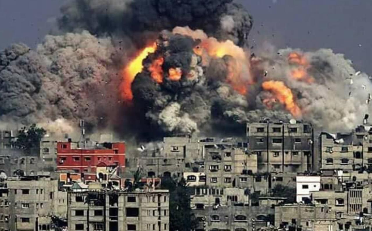 A la Ghouta, c'est délugue de bombes et de feu quotidien!