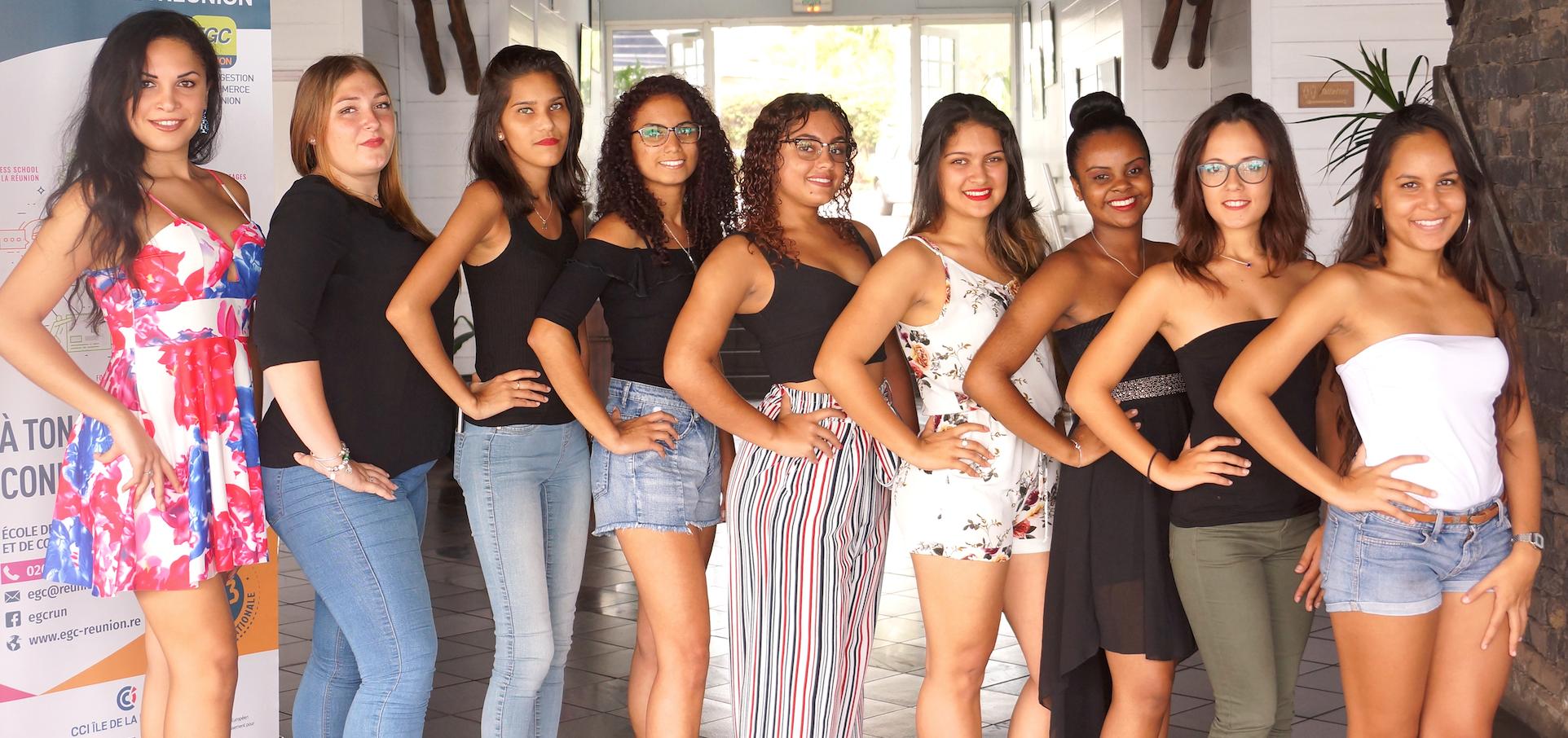 Miss Etudiante Réunion 2018: les 9 candidates
