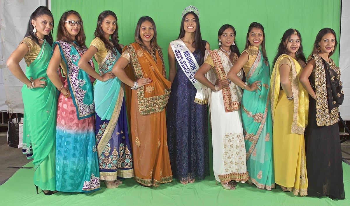 Miss Réunion avec les candidates Miss India Réunion 2018