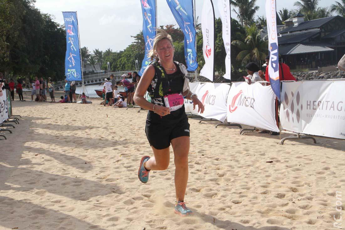 Céline Pommeret est victorieuse dans sa catégorie sur 10 km.