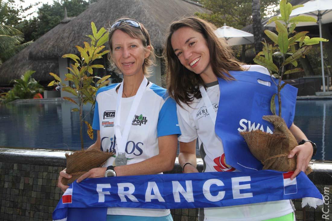 La France en l'air, avec Sophie Laplane et Nathalie Percheron, 1ère et 2ème des 21km