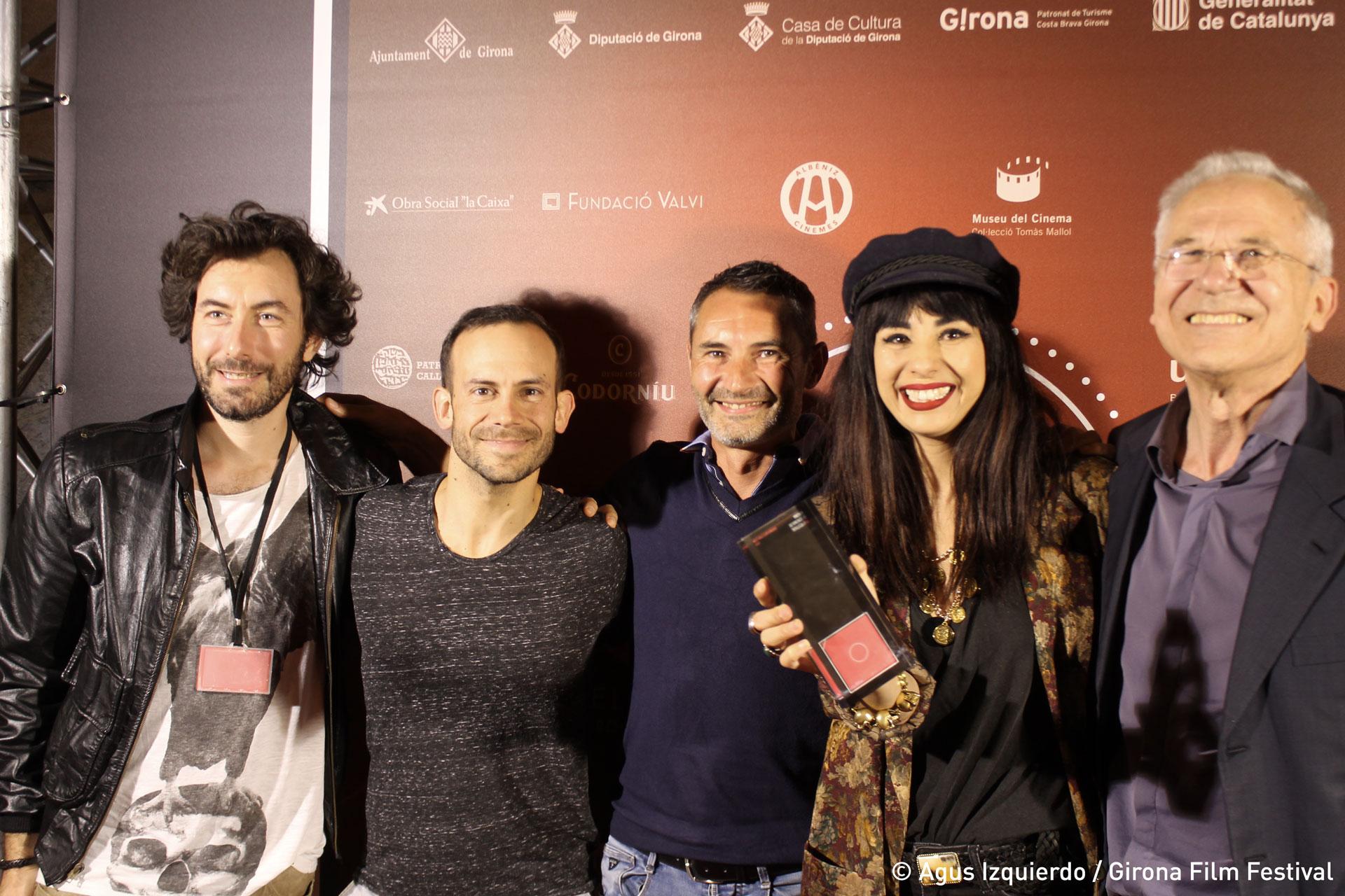 Nicolas Luquet, sound designer et compositeur, Nicolas Bordier, directeur de la photographie, Vincent Bouyer, acteur, Aurélia Mengin, et Lluis Valenti, directeur du festival de Girona