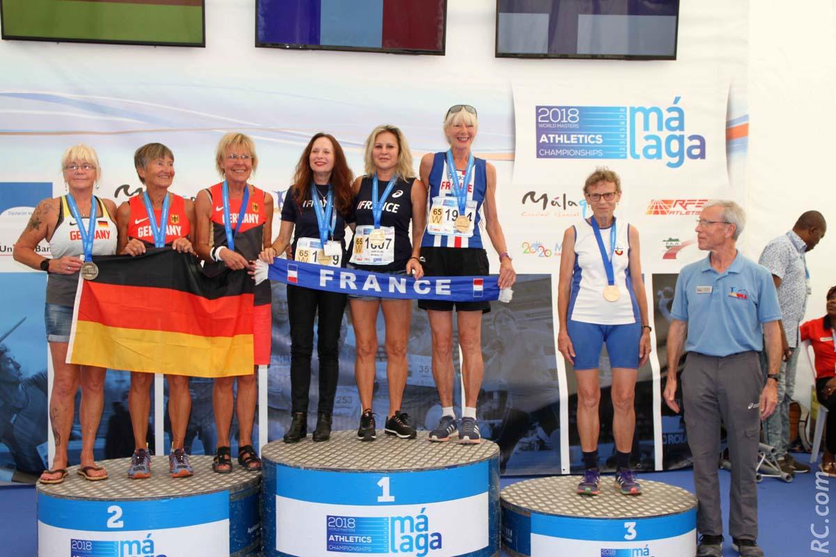 Masters d'Athlétisme à Malaga: Marlène Chane See Chu championne du monde par équipe!