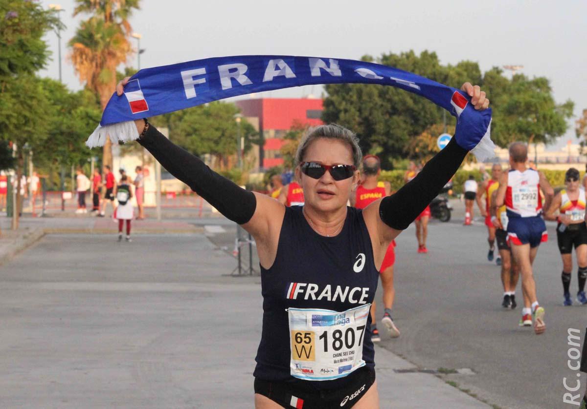 Le bleu-blanc-rouge porté fièrement par Marlène Chane See Chu, pionnière du marathon à la Réunion