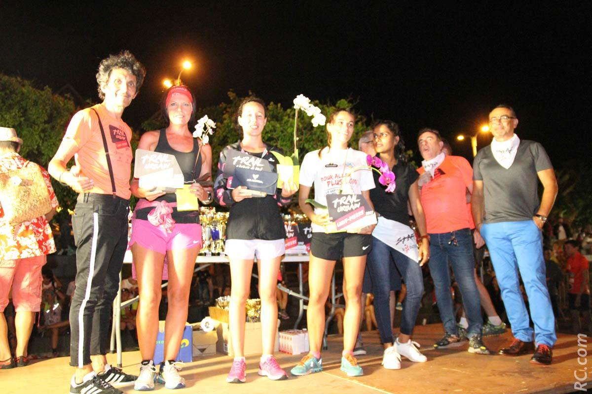 Le podium féminin sur 6km : Elodie Turpin , Jarillon Claire et Valérie Delesalle