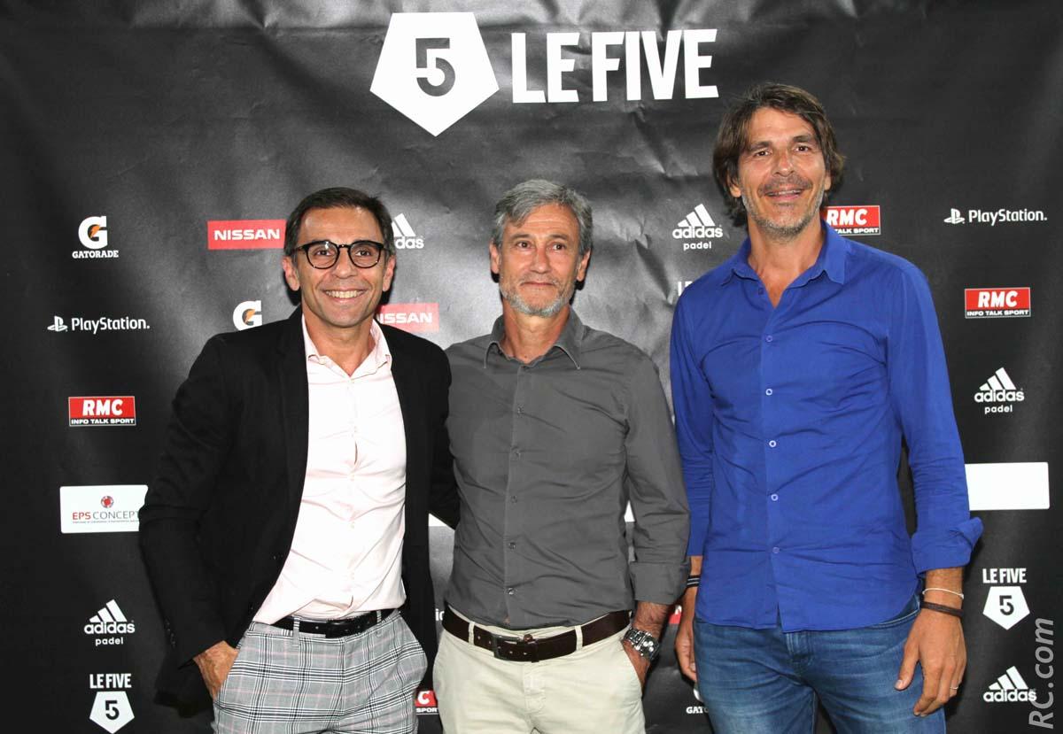 Frédéric MONSELLATO cadre commercial à SORIC, Thierry CALVERT de la banque BFC, Thierry VACCARO de CartAtout
