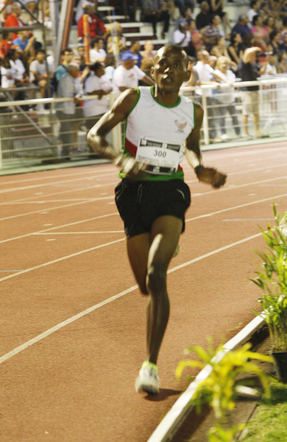 Manpitroatsy avait remporté le 3000 mètres du meeting d'athlétisme cette année à Champ-Fleury