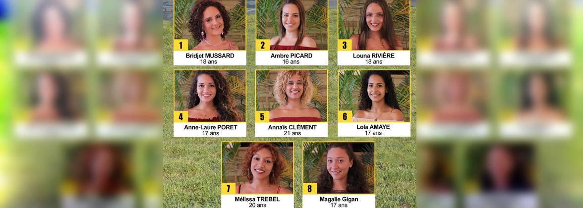 Miss Plaine des Cafres 2019 à Miel Vert: les 8 candidates