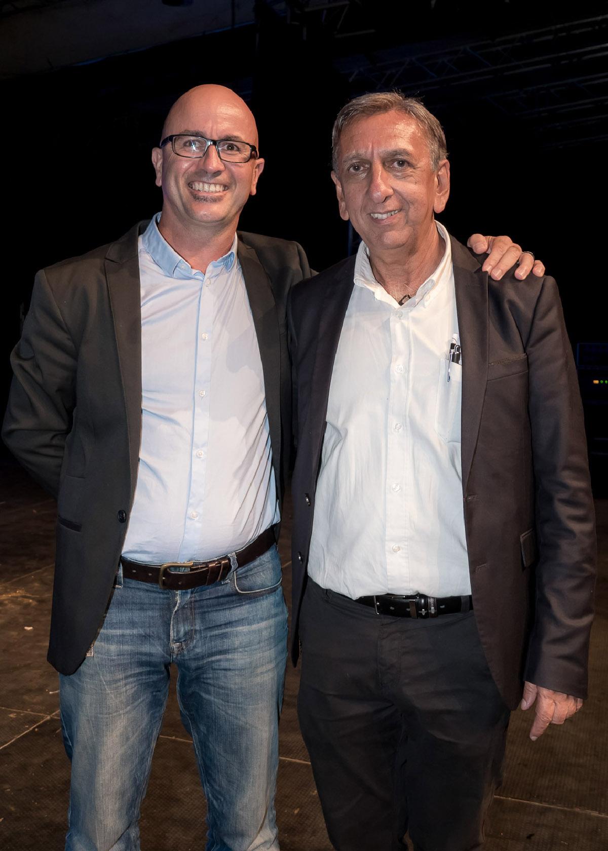 Jean-Max Payet, directeur du Marché de gros de Saint-Pierre, et Aziz Patel