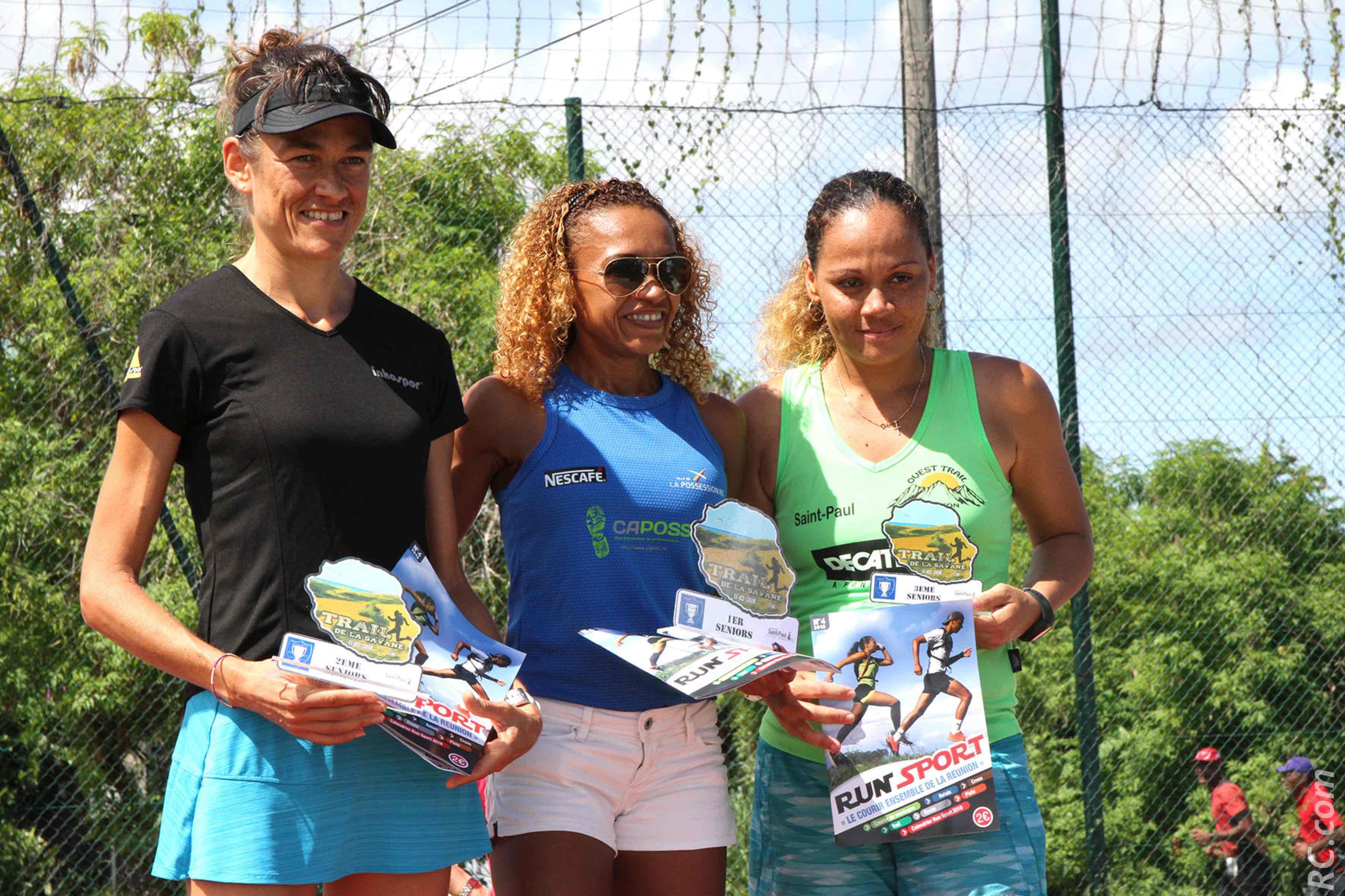 Hortense Bègue ( au centre) lauréate 2018 sur les 15 km