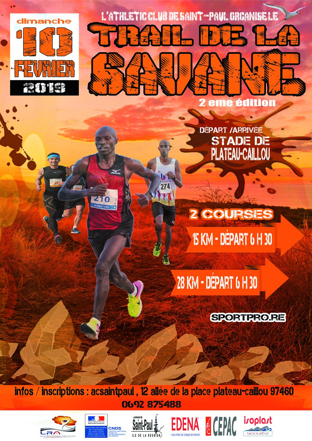 Trail de la Savane: rendez-vous le 10 février 2019
