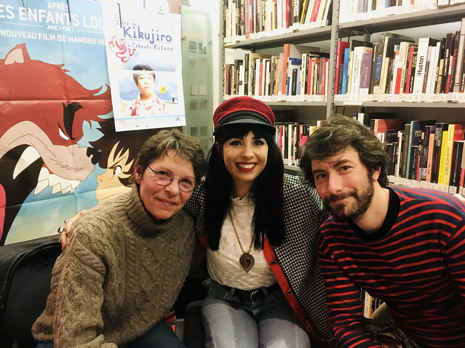 Avec Nicolas Luquet et une journaliste