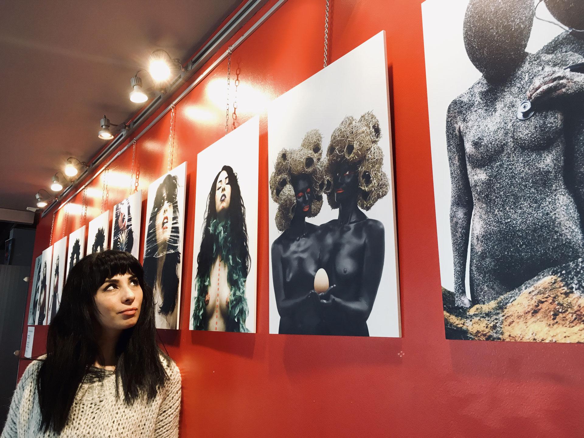 Aurélia a aussi exposé des photos à Tours