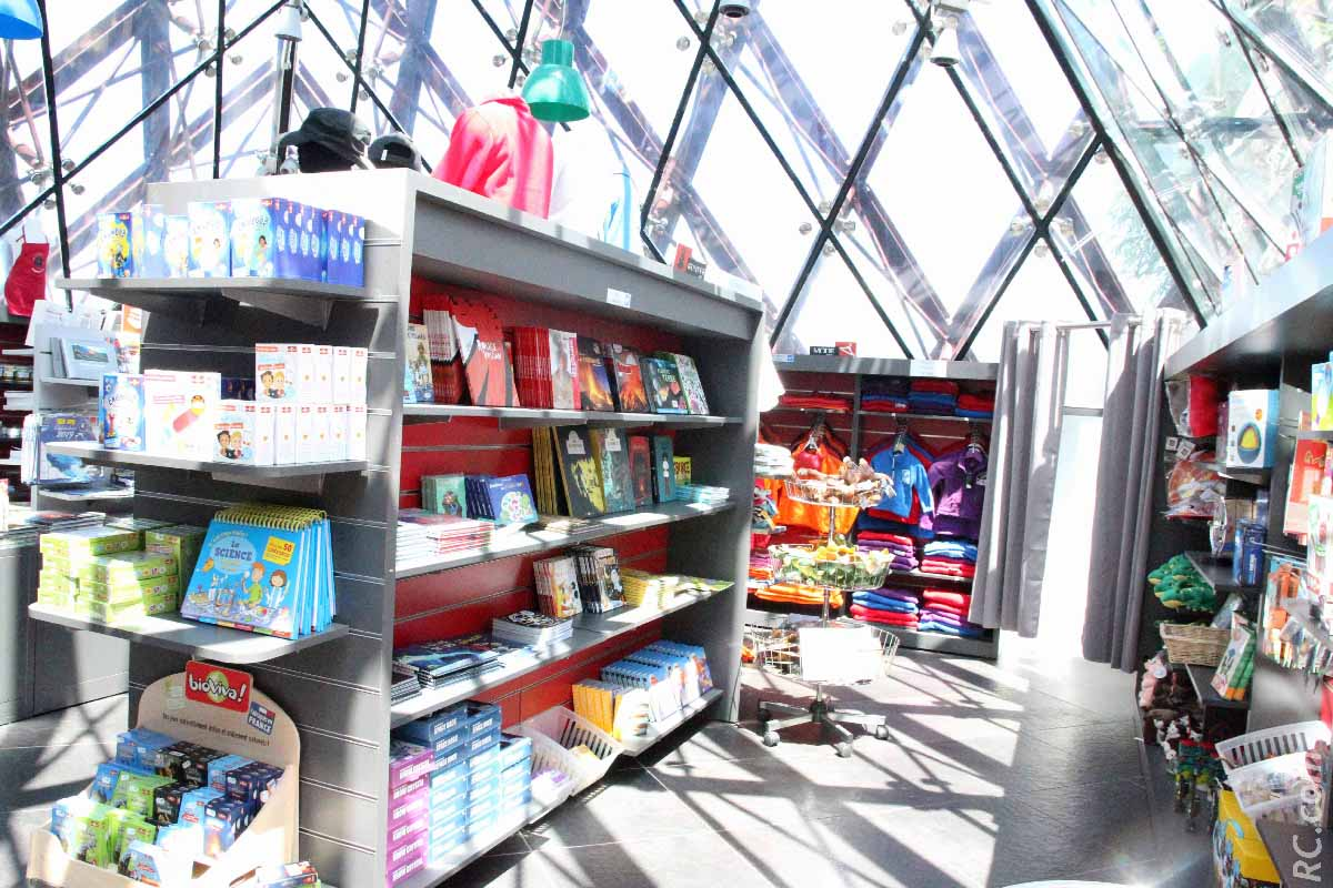 La boutique de la Cité du Volcan, lieu incontournable lors de votre visite