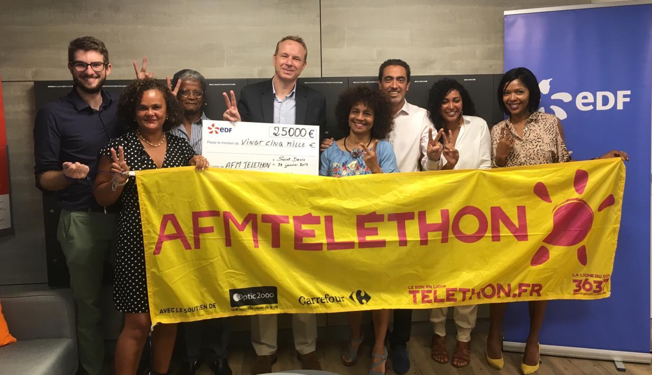 EDF a récolté 25 000 euros pour le Téléthon