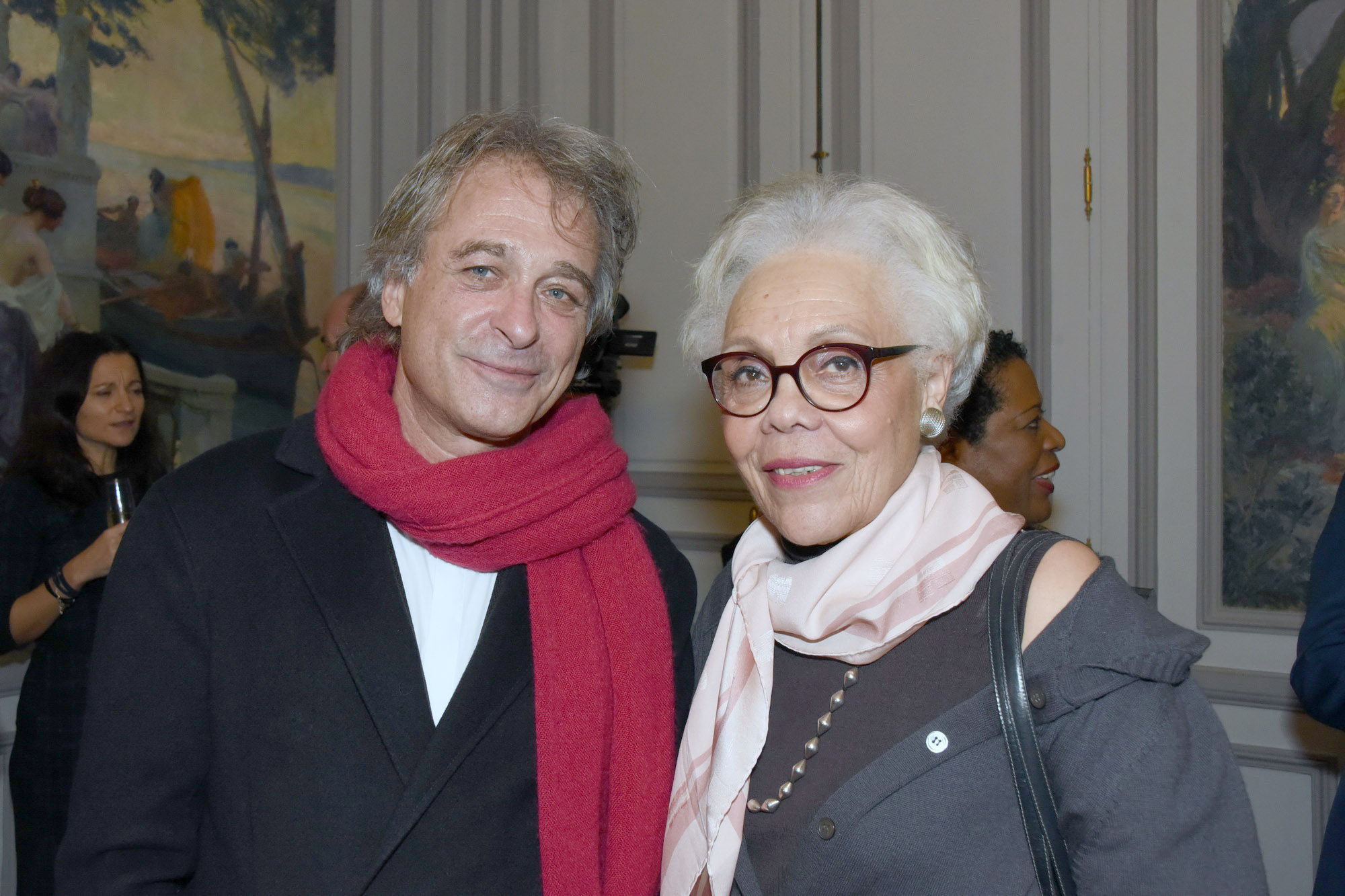 Titouan Lamazou a évoqué son projet de bateau atelier avec Gisèle Bourquin, présidentedel'association Femmes au-delà des mers