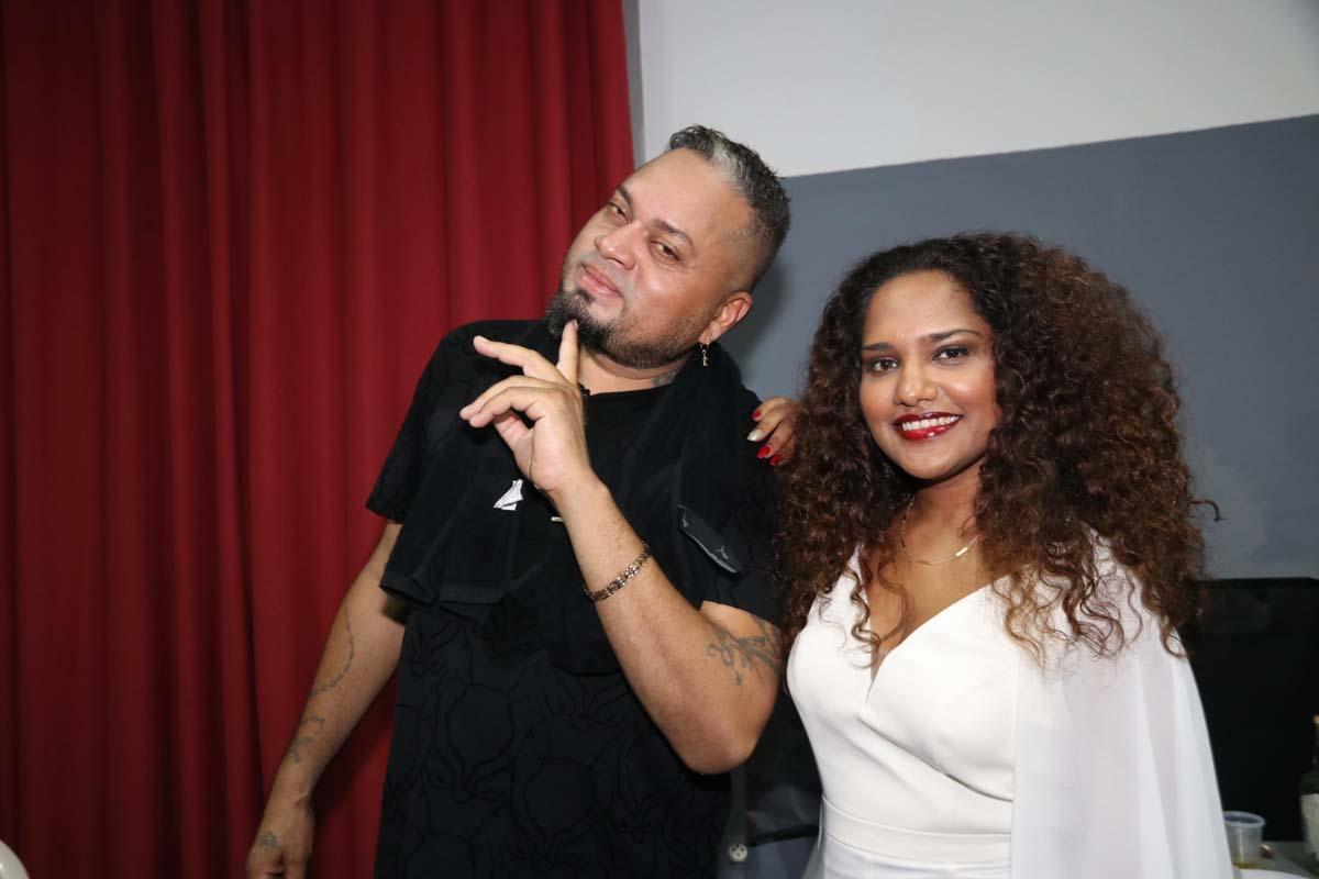 Un couple star: Alain Ramanisum et son épouse Laura Beg